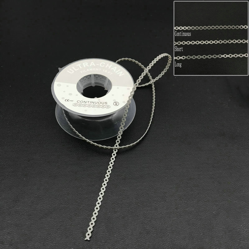 15 Feet Grey Dental Orthodontic Elastic Ultra Power Chain Band 1 Roll  Tooth Whitening