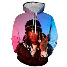 2020 rapper rei von 3d impresso hoodies hip hop impressão 3d com capuz das mulheres dos homens casual sweatershirt todo o jogo hoodie