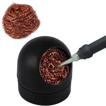 Metal Wire Heavy Duty Welding Desoldering Soldering Solder Iron Tip Dross Cleaner Cleaning Steel Ball Mesh Filter Tin Remove