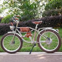 Bicicleta Eléctrica 500W bicicleta retro gruesa bicicleta de playa crucero bicicleta eléctrica retro bicicleta eléctrica clásica retro ele