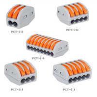 30/50/100 Uds. Conectores de Cable Universal 222 tipo de conexión de Cable compacta de casa rápida empuje en el cableado PCT-212 de bloque de Terminal