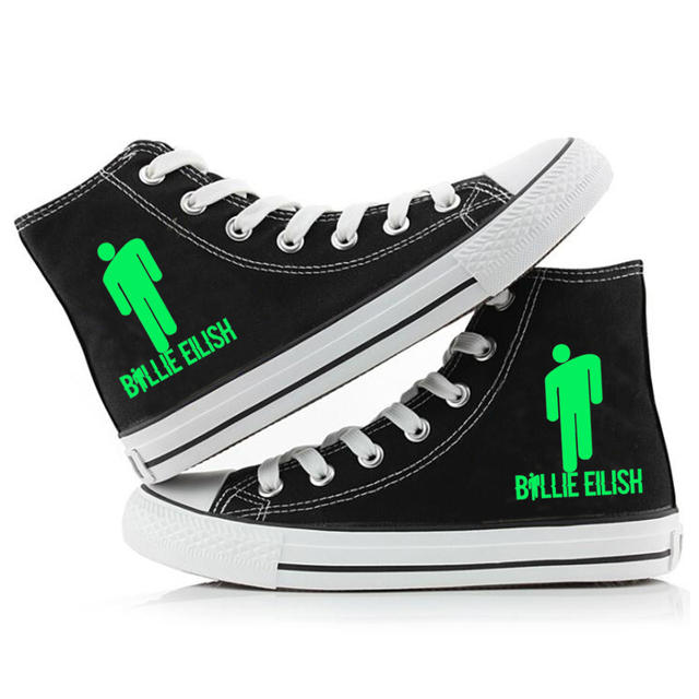 BILLIE EILISH THEMED HIGH TOP SHOES (16 VARIAN)