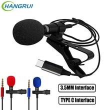 3.5 มม.แจ็คไมโครโฟน Lavalier Tie คลิปไมโครโฟนมินิไมโครโฟนสำหรับ Huawei TYPE C Audio Interface คอมพิวเตอร์แล็ปท็อปโทรศัพท์