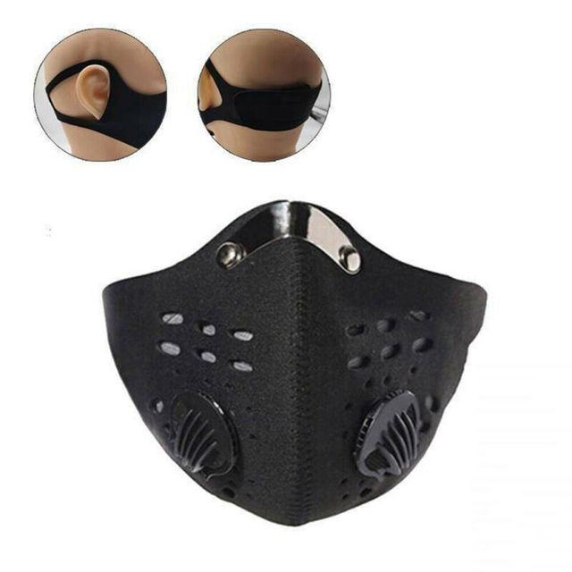 2020 Solid Unisex Face Shield  5 Layers Filter Safety protection Mask Wit Filter 2