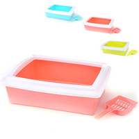 Portable Easy Cat Litter boxs Small Pets Training Toilet with Shovel Shit Toilet Trays Kitten Puppy Dogs Litter Pots 38x29cm