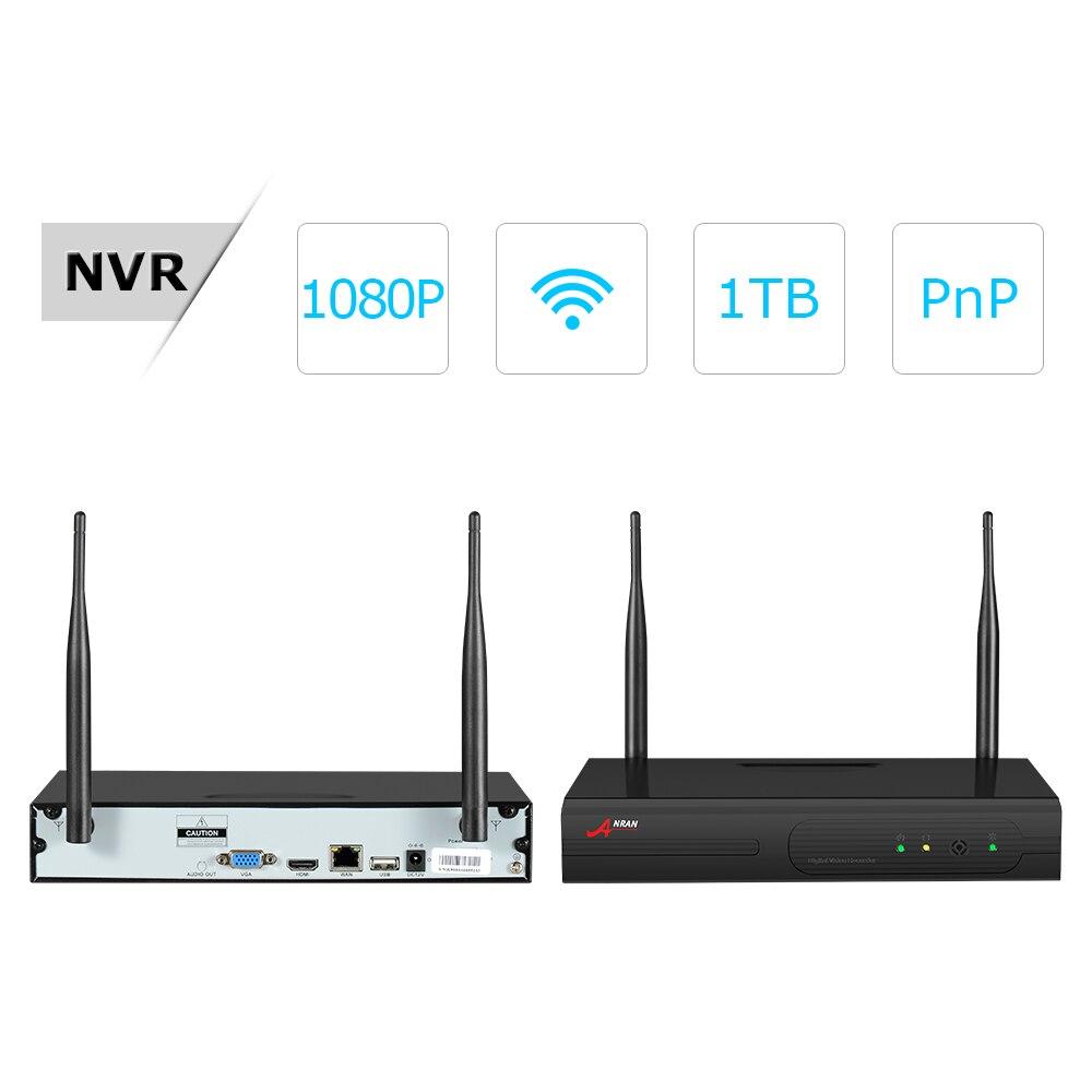 ANRAN CCTV Camera System Wifi 1080P NVR Kit 4CH 1080P HD IP Camera Outdoor Night Vision Security Camera System