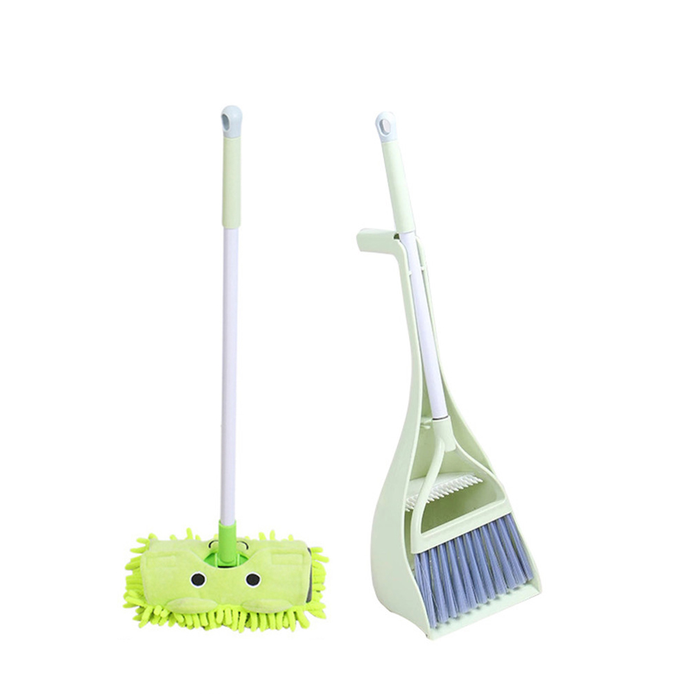 Childrens Play House Toys Broom Mini Sweeper Household Cleaning Supplies Set