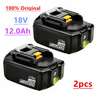 2pcs Original For Makita 18V 12000mAh Rechargeable Power Tools Battery with LED Li-ion Replacement LXT BL1860B BL1860 BL1850