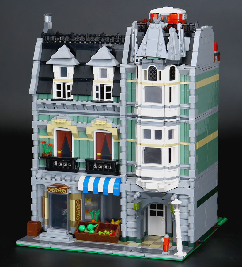 <font><b>15008</b></font> 2462pcs City Stree Green <font><b>Grocer</b></font> Model set Building Blocks Bricks Children's Christmas toys Compatible With 10185 image