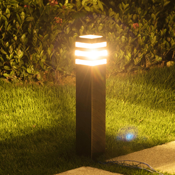 Thrisdar E27 Outdoor Garden Lawn Light Landscape Villa Pathway Street Column Light Modern Home Courtyard Lawn Pillar Light