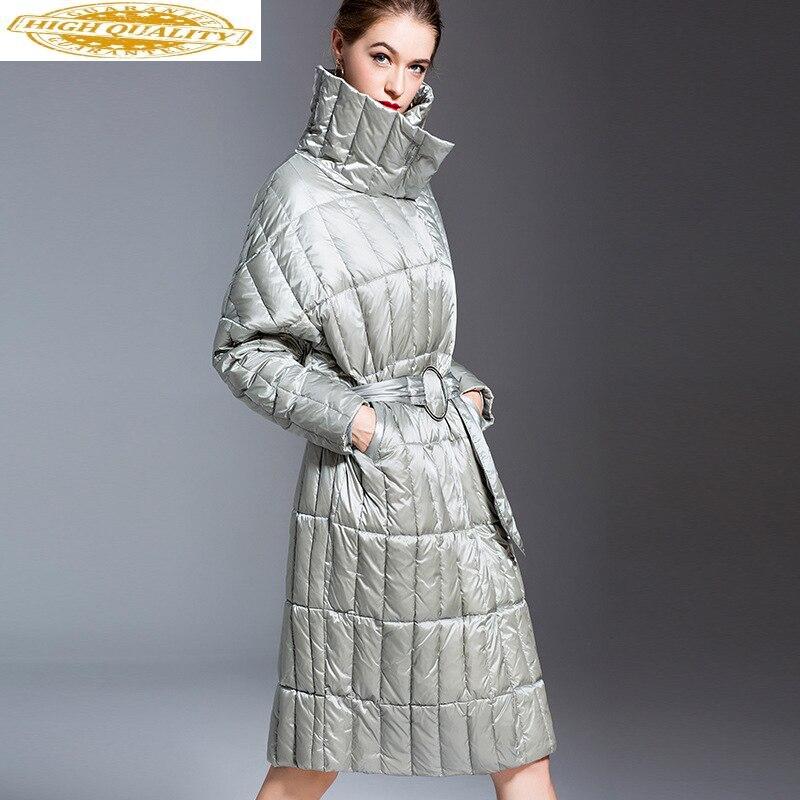2020 Winter Duck Down Jacket Women Long Ultra Light Down Coat Puffer Jacket Oversize Down Jackets For Women 1807002 KJ2807