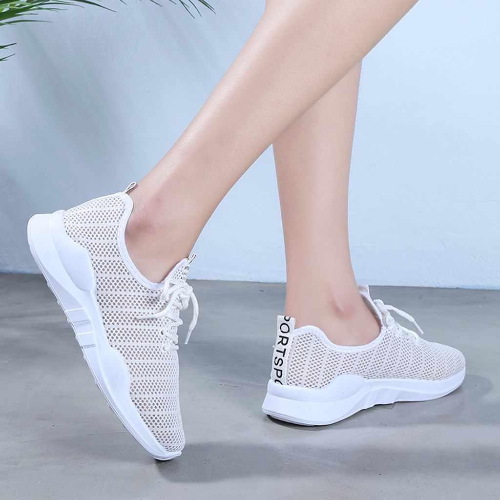 靴女性スニーカー 2020 ファッション夏通気性メッシュの靴女性高速配信テニスfeminino女性ランニングシューズ #4