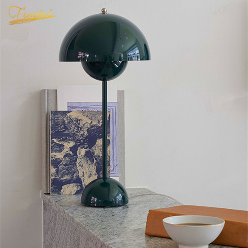 European Creative Color Flowerpot LED Table Lamp Lighting Fixtures Nordic Table Light Bedside Study Reading Home Deco Desk Light