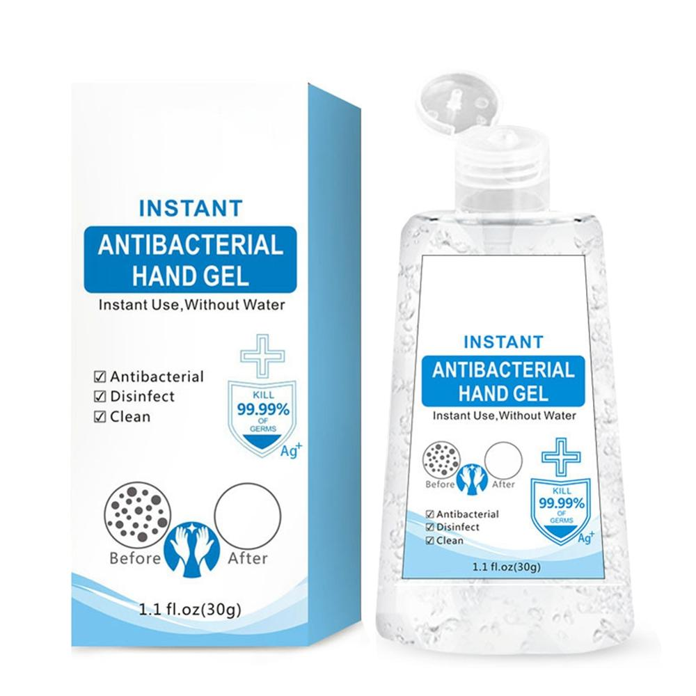 30ml No Alcohol Silver Ions Disposable Hand Sanitizer Gel Gentle Cleansing Hands Sterilization Rinse-Free Hand Sanitizer