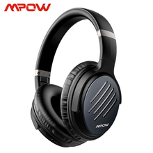 Mpow h16 atualizado active noise cancelling fones de ouvido carregamento rápido 30 h tempo de jogo sem fio/com fio fone de ouvido para pc tv celulares