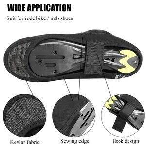 Image 2 - ROCKBROS – couvre chaussures de cyclisme, coupe vent, garde au chaud, équipement de cyclisme, vtt, route, hiver
