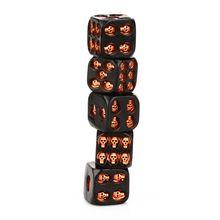5 предметов/комплект Творческий черепа куб 6-гранная Смолы Скелет куб клуб бар вечерние настольная игра игрушки для детей и взрослых