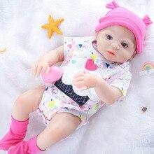 55CM Bebe Doll Reborn Toddler Girl Doll Full Body Soft Silicone Realistic Baby Bath Toy Waterproof