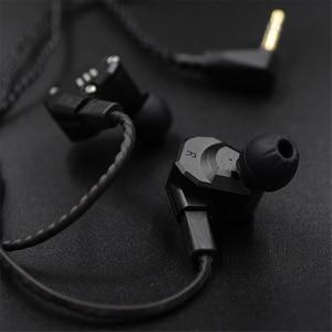 Image 5 - Обновляемый кабель для наушников KZ, черный, посеребренный, для ZS10/ZSA/ZS6/ZS4/AS10, 0,75 мм, 2 контакта, съемный аудиокабель для наушников