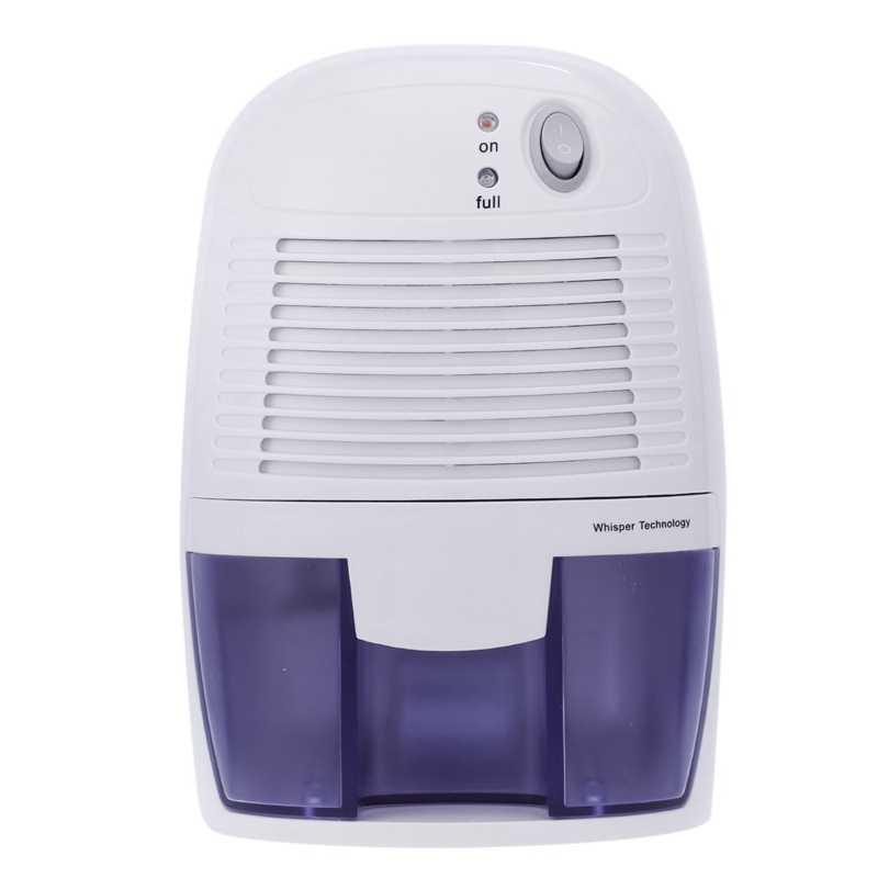 Enchufe británico, Mini deshumidificador secador de aire absorbente de humedad secador eléctrico de refrigeración con tanque de agua de 500Ml para la cocina del dormitorio doméstico apagado