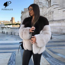 Winter Genuine Leather Blue Fox Fur New Whole Skin Natural Real Coats Thick Warm High Quality Handmade Clothing Coat