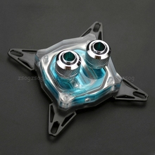 """G1/4"""" Base Inner Channel PC Water Cooling Block For Intel 775/1150/1155/1156 CPU Au13 19 Droship"""