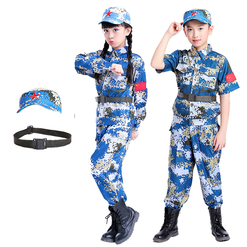 Boy Scouts Kids Military Uniform Army Soldier Cosplay Costumes Girl Camouflage Combat Training Jackets Men Hunting Tactical Suit