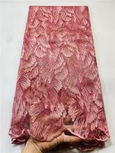 Alisa liquidação africano tecido de renda alta qualidade bordado francês tule tecido renda nigeriano tecido do laço para o vestido casamento