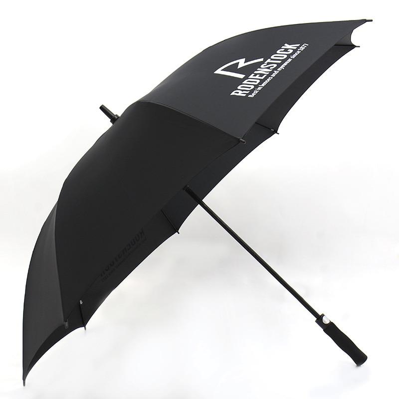 30-Inch Fully Automatic Golf Umbrella Fiber Extra Large Long Handle Three Business All-Weather Umbrella Customizable Logo Advert