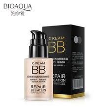 цена BIOAQUA Natural Whitening Brighten BB Cream Perfect Flawless Cover Acne Pore CC Cream Nude Make-up Moisturizing Liquid Foundatio в интернет-магазинах