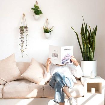 3 шт./компл. Nordic Стиль Керамика растения цветочный горшок украшения стенд подвесной ящик для комнатных растений, для дома и сада коридор балк...