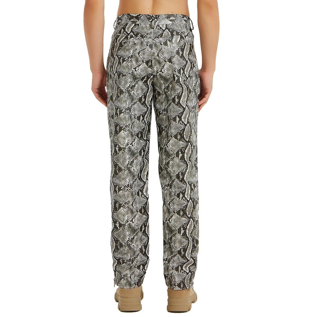 2019 New Style Ouma Casual Pants Snakeskin Print MEN'S PU Leather Pants Fashion Man Slim Fit Pants Jj-yk037