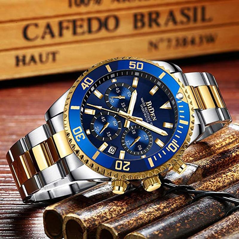 2020 Watch Men Top Brand Luxury Sport Waterproof Men 24 Hour Watches Man Quartz Rolexable Stainless Steel Chronograph Wristwatch