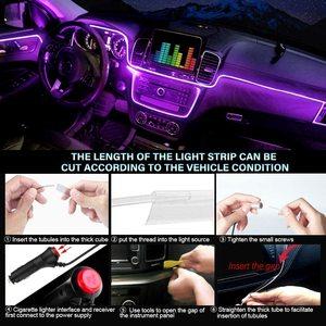 Image 4 - ANMINGPU RGB araba atmosfer iç ışık Neon LED şerit işıklar App ses kontrolü çoklu modları otomatik ortam dekoratif lamba