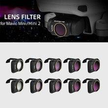 Аксессуары для дрона 6 шт./компл. для DJI Mavic Mini/Mini 2 фильтры UV ND CPL 4/8/16/32 NDPL Полярный комплект защита фильтра объектива камеры