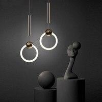 Modern led pendant light for bar Cafe Restaurant pendant lamp study office aisle corridor living dining room Fluorescent light