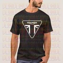 Casual masculina camisa de manga curta triumph logotipo da motocicleta camiseta roupas originais impresso tamanho grande xxxl topo t masculino phiking