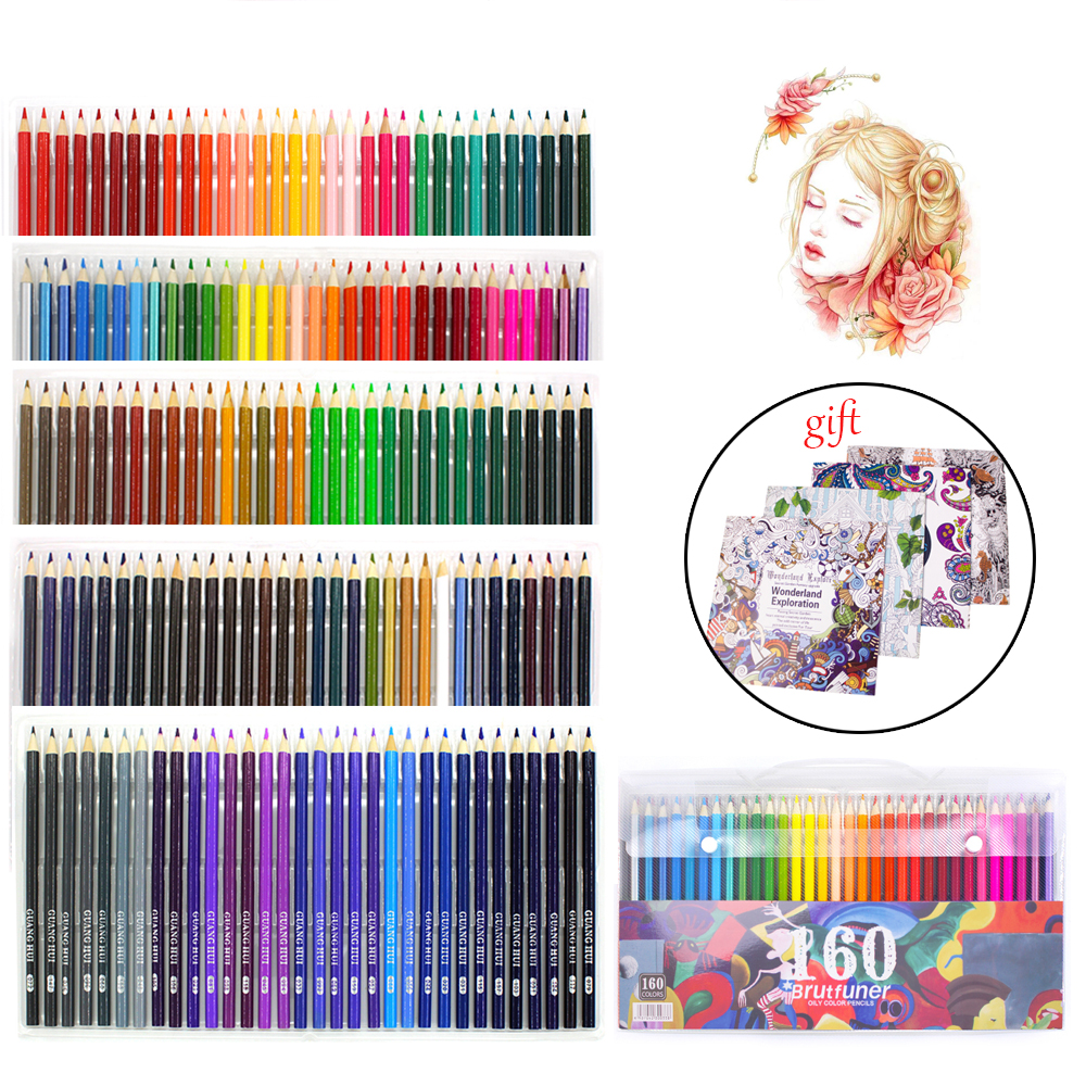 Professional Colored Pencils Drawing 160 Colored Wooden Pencils For Drawing Set Sketch Art For Children Simple Pencil For School