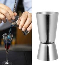 25/50ml Bar Measure Steel Double Single Shot Measure Food Jigger Bar Safety Cup Material Drink Cocktail Spirit C6J5