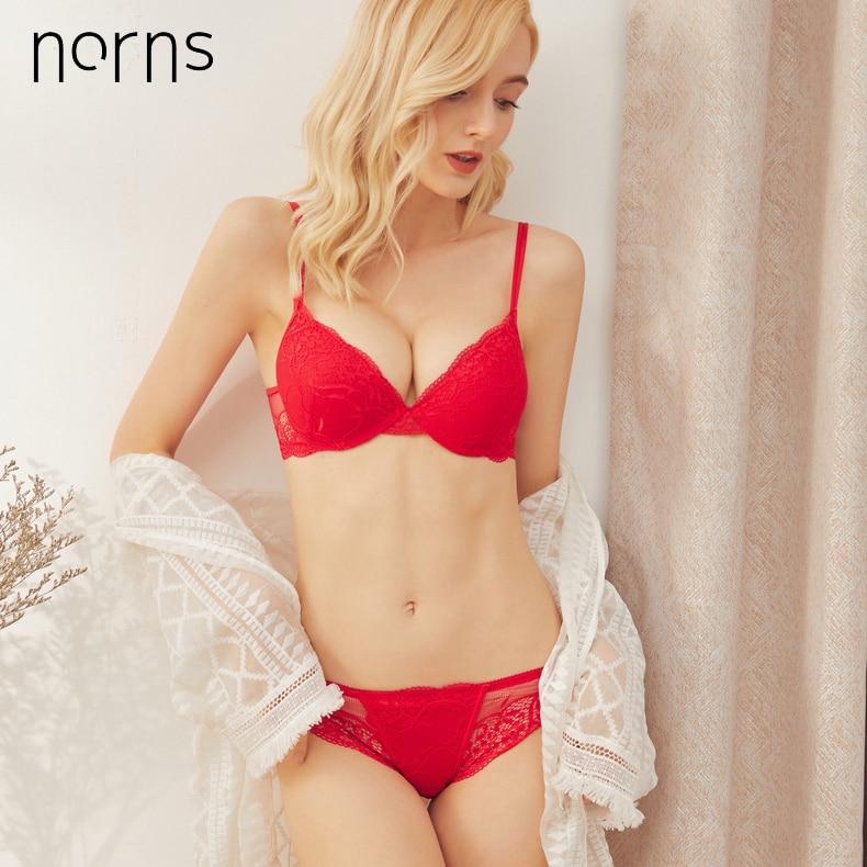 Image 2 - Norns women lace lingerie set Unlined Push Up Bra Set Fashion active Lingerie and panty bra bralette set underwearBra & Brief Sets   -