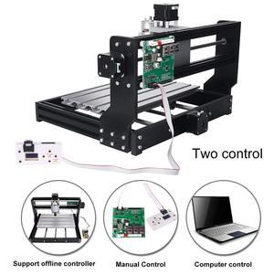 Image 3 - 3018 PRO 3 osi CNC Router GRBL sterowania regulowana prędkość silnik wrzeciona maszyny do grawerowania drewna frezarka kontroler Offline