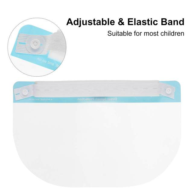 5/10pcs Child Protective Face Mask Anti-fog Dust-proof Anti-spatter Waterproof Safety Full Facial Cover Shield 3