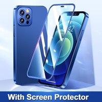 Joyroom 360 Volle Abdeckung Telefon Fall Für iPhone 12 Pro Max Anti-Herbst Gehärtetem Glas Stoßfest Telefon Abdeckung Für iPhone 12 Pro Fall