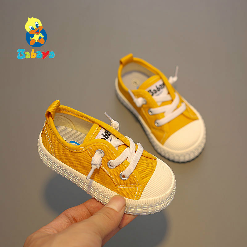 Baby Shoes Girls 1-3years Old Children Canvas Shoes Kids Baby Boys Shoes Breathable 2019 Autumn Newe Fashion Toddler Sneaker