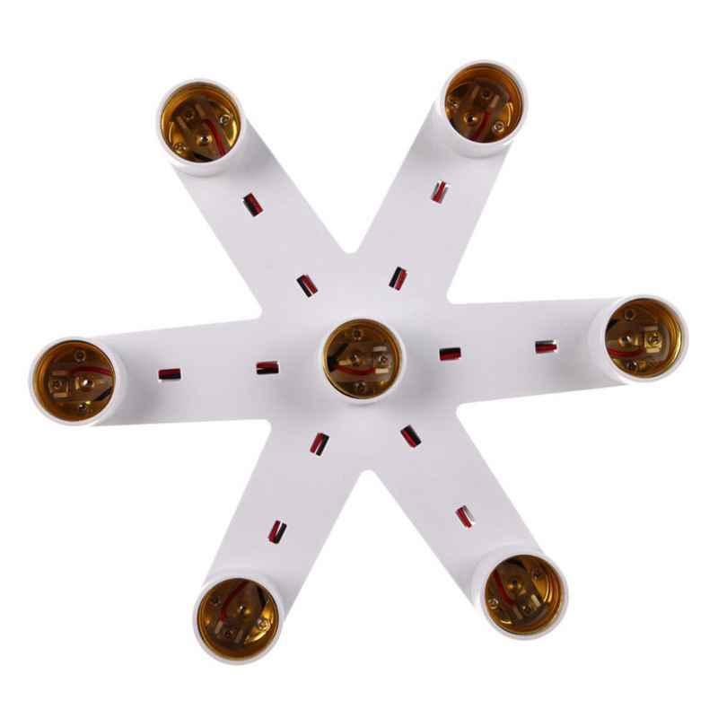 1-7 e27 патрон лампы E27 Цоколь светодиодный светильник патрон Держатель разделитель ламп конвертер