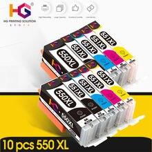 10pk для canon pgi 550xl pgi550 550 cli551 pixma ip7250 mg5450