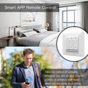 Image 4 - Persiana enrollable inteligente con WiFi, cortina de botones con Control remoto, motorizada, Tuya, Alexa y Google Home