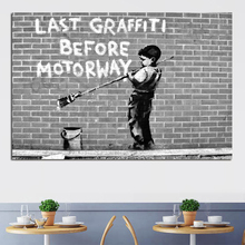Little Boy Wall Works Street Art Oil Painting Posters Modern Wall Art Canvas Painting Unique Gift For Art Wall Home Decoration minimalist fresh unframed paintings little girls back canvas posters wall painting art print for home bedroom decoration