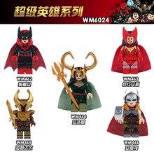 WM6024 Single Sale Super Heroes Marvel s Lady Loki Thor Action Education Figure Buidling Blocks Children Gift Toys DIY