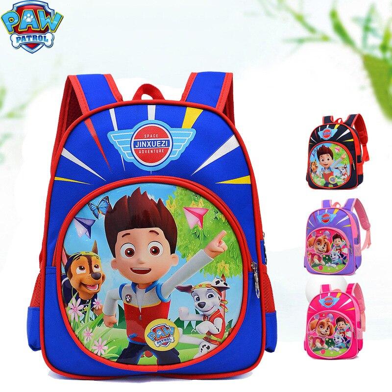Paw Patrol School Bag Cartoon Anime Print Cute Anime Paw Backpack Child Kindergarten Child's Bag Boys Toys For Children 2D68